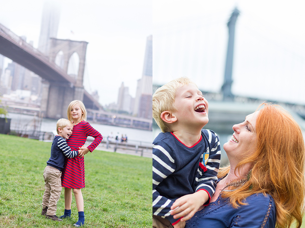 family photography in dumbo, brooklyn